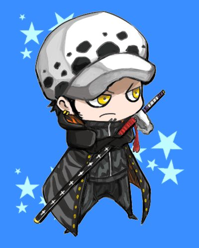 Chibi Trafalgar D. Water Law One piece art blue | One ...