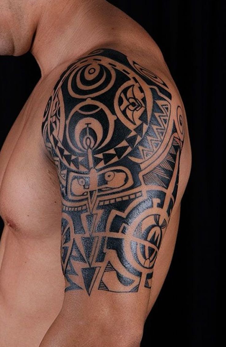 Tribal Shoulder Tattoos For Guys tattooideaslive.com #tattoos #tribal