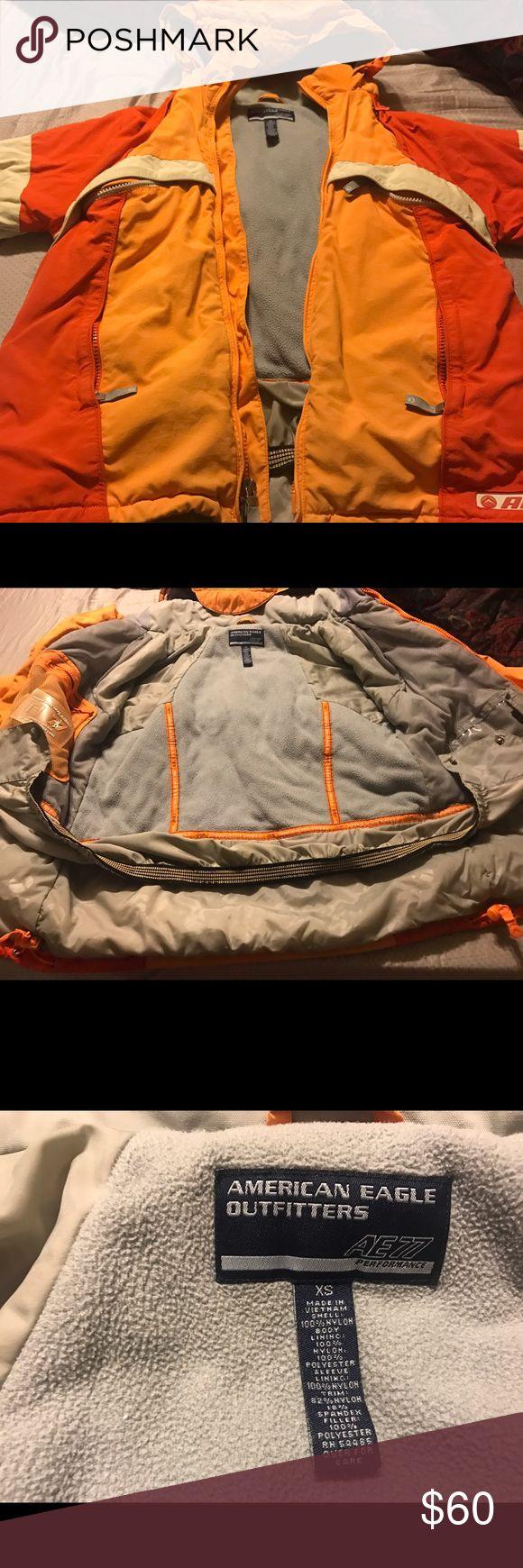 American Eagle Jacket Orange America Eagle jacket American Eagle Outfitters Jackets & Coats