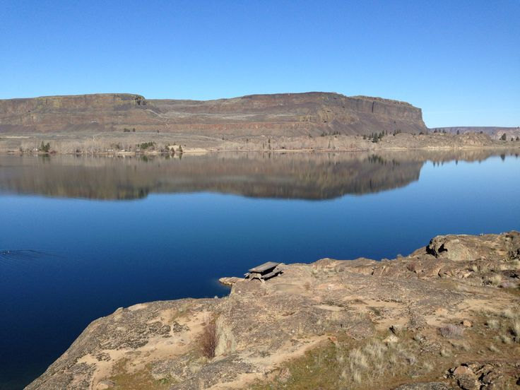Steamboat rock on Banks Lake
