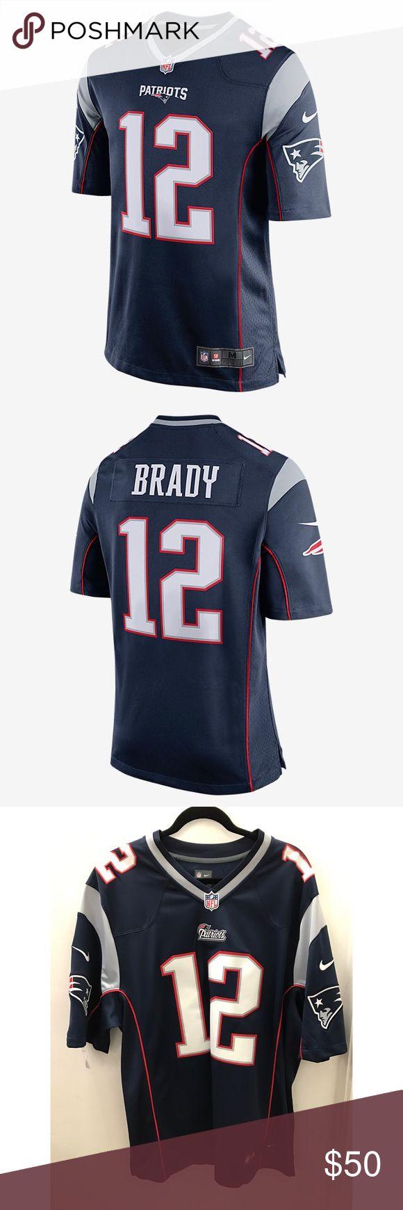 NFL NEW ENGLAND PATRIOTS GAME JERSEY (TOM BRADY) College Navy/Wolf Grey/University Red NFL Shirts
