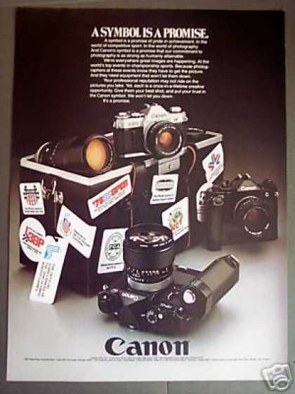 Canon 35mm Slr Film Cameras Lenses (1979)