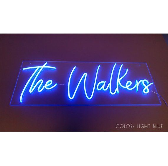8488be895e28d Custom Last Name Neon sign in 2019 | Products | Neon signs, Custom ...