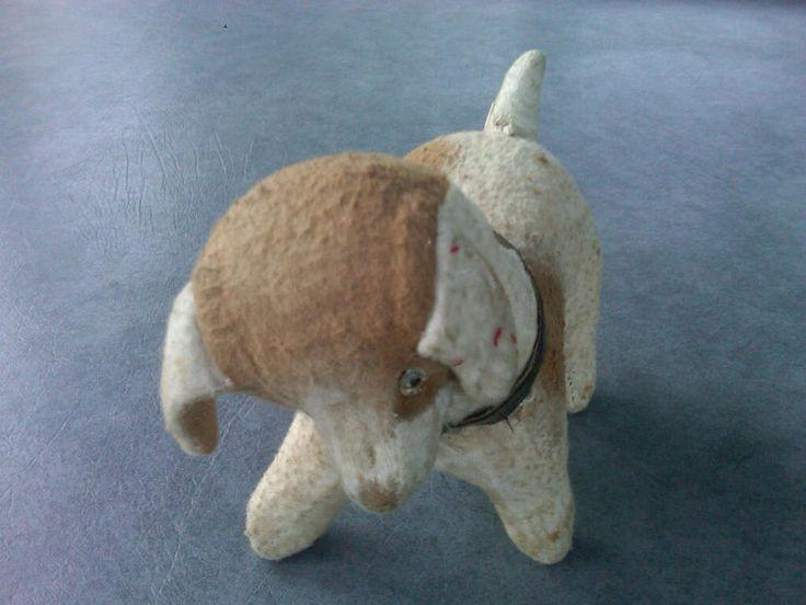 antique stuffed dog