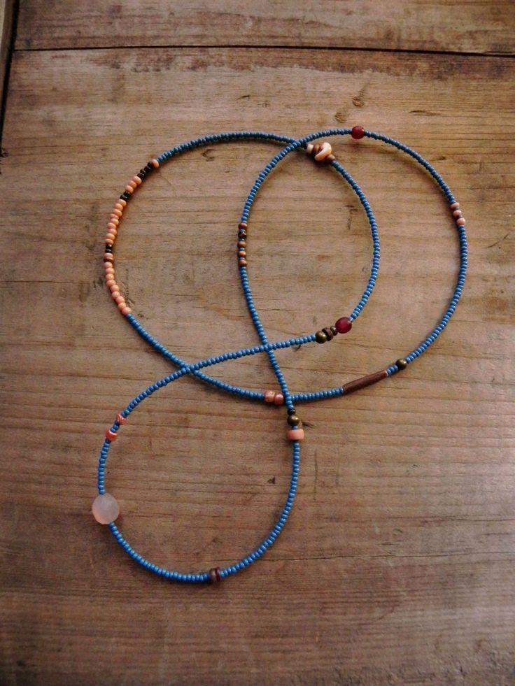Cythera - gemstone seed bead necklace - bracelet wrap. $28.00, via Etsy.