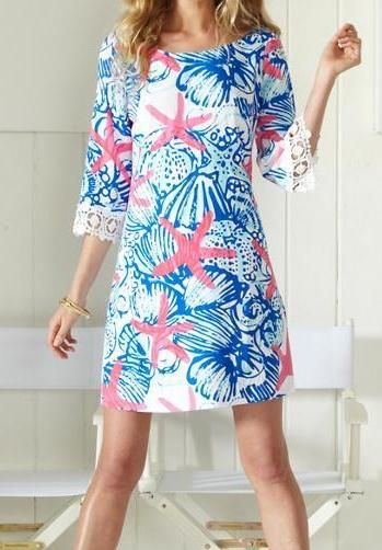 Lilly Pulitzer Harbour Tunic Dress in She She Shells
