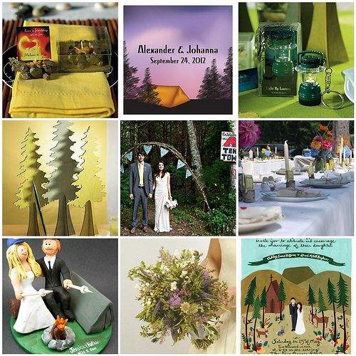 Camping wedding theme for lovers of nature and the great outdoors