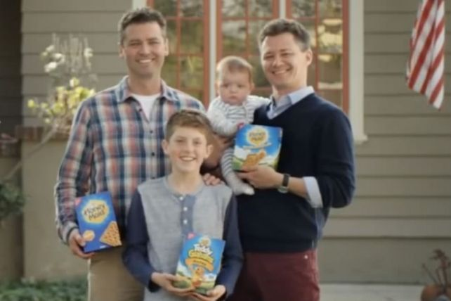 "Honey Maid's Take on Wholesome Families Includes Gay Couple - A nearly 90-year-old graham cracker brand is defining ""wholesome"" with a new campaign featuring interracial and gay couples, a tattooed punk rock musician and a single father. (I will most definitely be buying Honey Maid graham crackers for life!)"