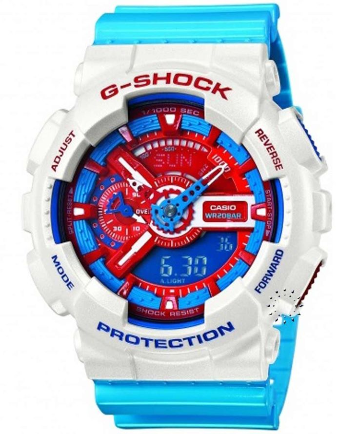 CASIO G-Shock Light Blue Rubber Strap Μοντέλο: GA-110AC-7AER Η τιμή μας: 150€ http://www.oroloi.gr/product_info.php?products_id=34541