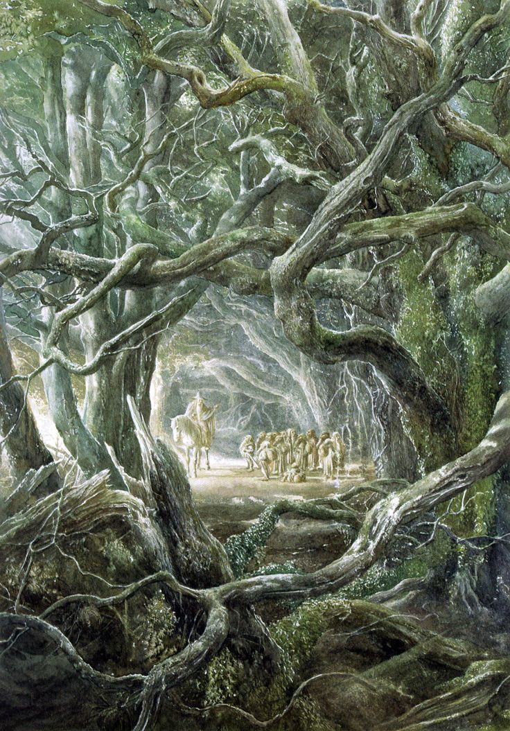 """Illustration by Alan Lee from """"The Hobbit"""" by J.R.R. Tolkien..."""