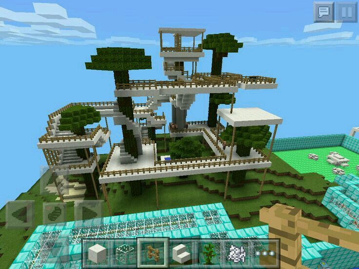 Best Minecraft Images On Pinterest Games Ideas And Treehouse - Group guys build epic treehouse gaming