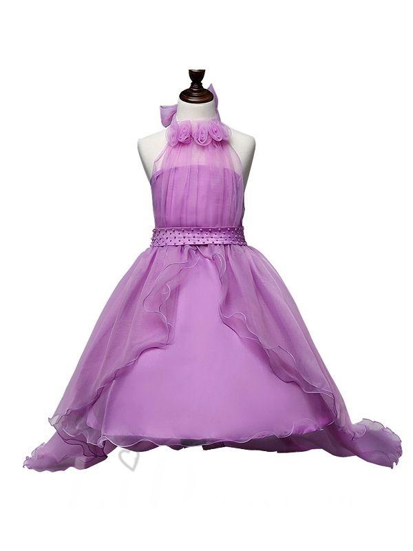 Purple Little kids Performance Dresses Style Lid1605051054