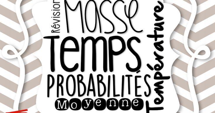 Cartes à tâche - Révision - Moyenne, Temps, Température, Probabilités, Masse.pdf