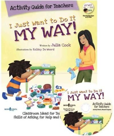 """More than 20 easy-to-follow activities and games to help your students learn how and when to use steps to the I Just Want to Do It My Way! skills of """"Staying on Task"""" and """"Asking for Help."""" The activi"""
