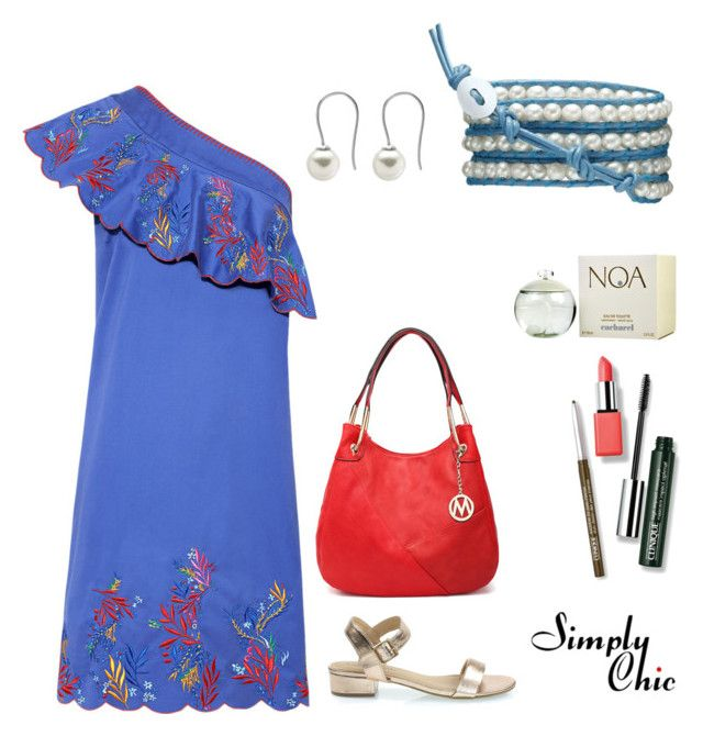 """Summer Breeze"" by simply-chic-romania on Polyvore featuring Saloni, Clinique, Classified, MKF Collection and Cacharel"