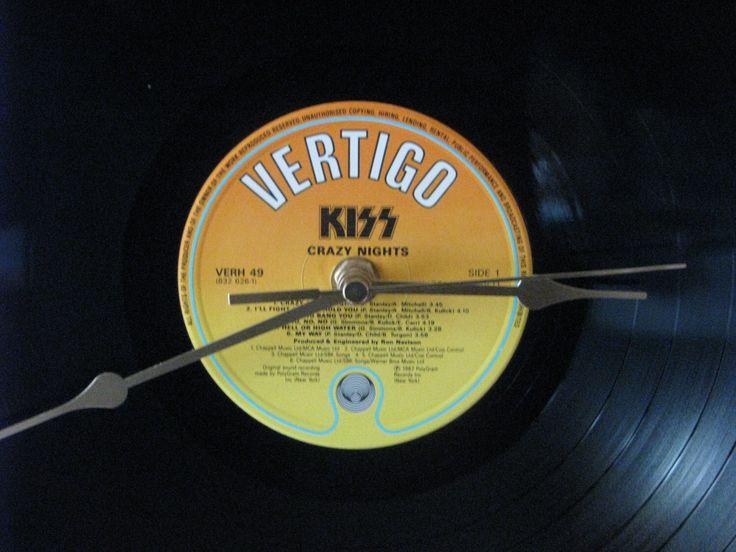 "Kiss Crazy nights 12""/lp  vinyl record clock by cool4clocks on Etsy https://www.etsy.com/listing/203368393/kiss-crazy-nights-12lp-vinyl-record"