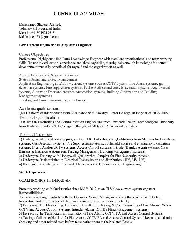 Slideshare Elv Engineer Resume 263a8565 Resumesample Resumefor Engineering Resume Resume Education Resume