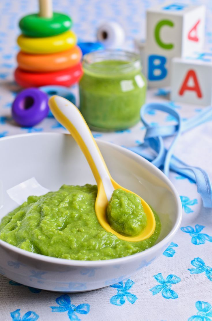 Brokolicový príkrm pre dojčatá s kalerábom