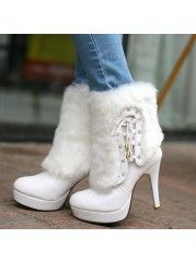 High Quality White Stiletto Heel Boot -  http://bit.ly/1omQPJg