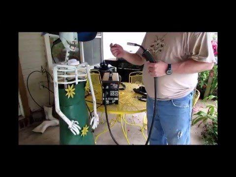 Goplus® MIG 130 Welder Flux Core Wire Automatic Feed Welding Machine - YouTube