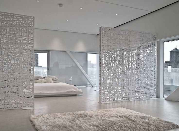 Room divider ideas bedroom inspiration monochrome - Decorative partitions room divider ...
