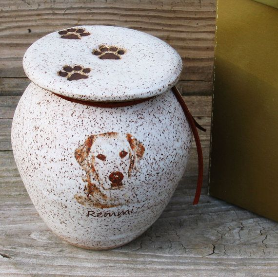 Pet Urn Custom With Image Various Sizes By