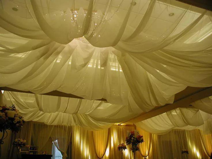 мнению фото пошагово драпировок потолок из ткани техника несложная