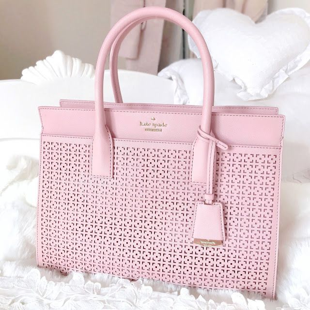 Love, Catherine | Kate Spade Pink Cedar Street Perforated Lacey Bag