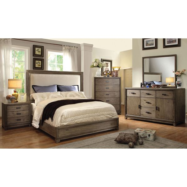furniture of america arian rustic 4piece natural ash bedroom set by furniture of america