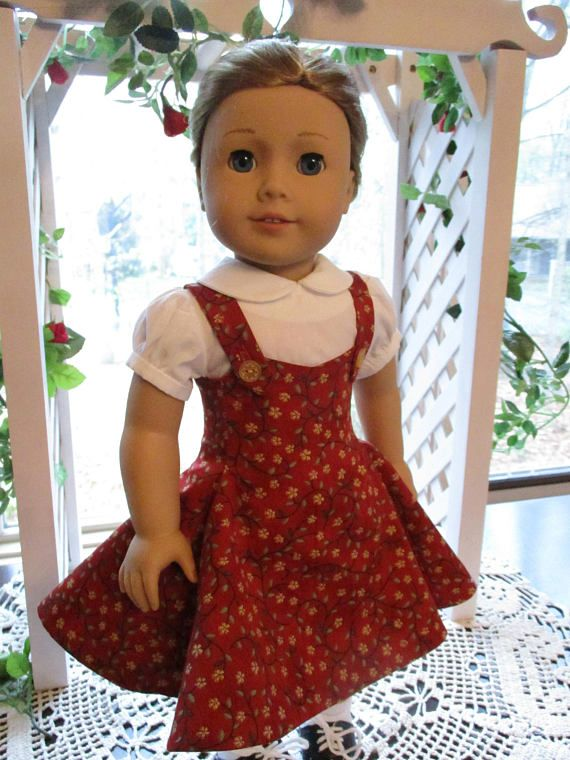 50's Doll Red Doll Dress for AG dolls, $22.99