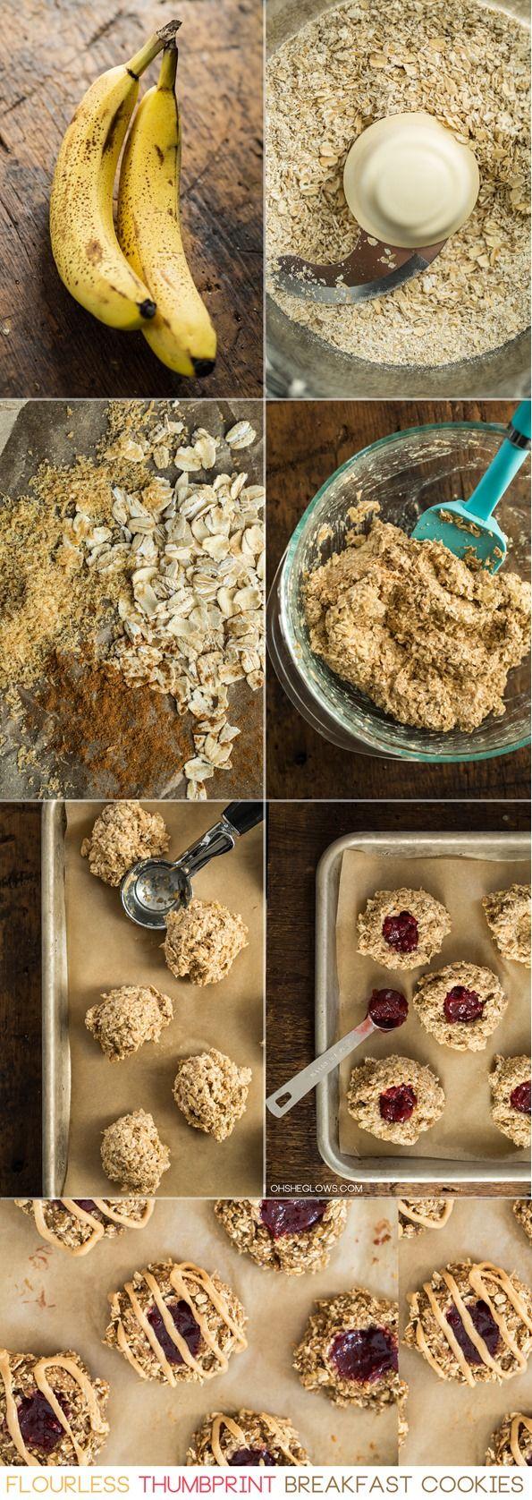 breakfastcookiesglutenfreevegan   Flourless Thumbprint Breakfast Cookies (Vegan + GF)