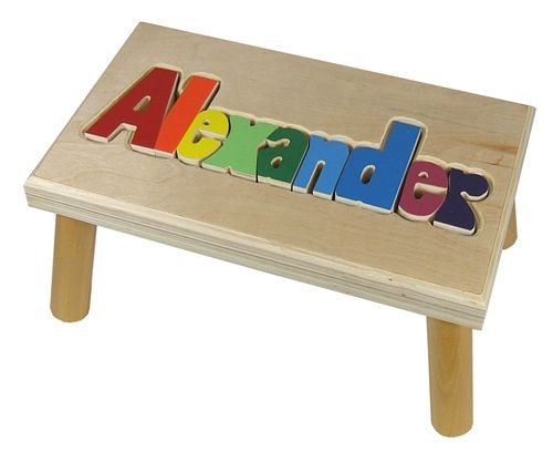 Personalized Puzzle Step Stool Baby Pinterest