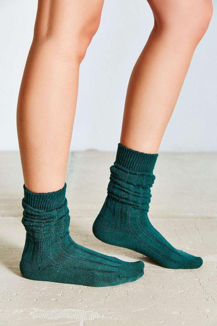 Chaussettes côtelées souples à bottes