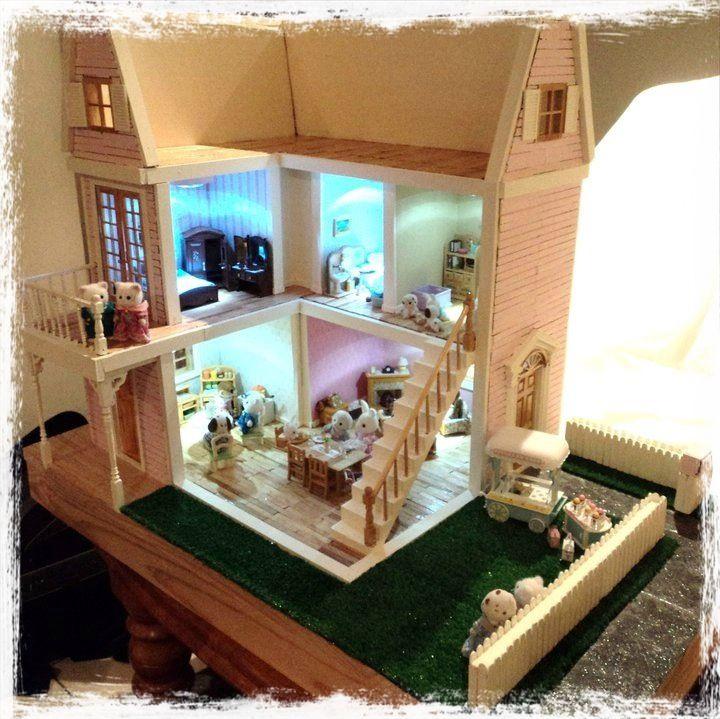 Wooden Dollhouse Diy Fairy Houses