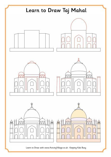 I believe you may have had this in the other board. India Learn to draw the Taj Mahal