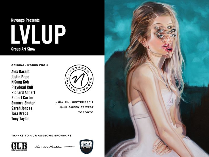 LVL UP Group Art Show: July 15th to September 1st, 2015