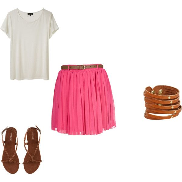 """Other pink skirt combo"" by kmclaughlin8 on Polyvore"