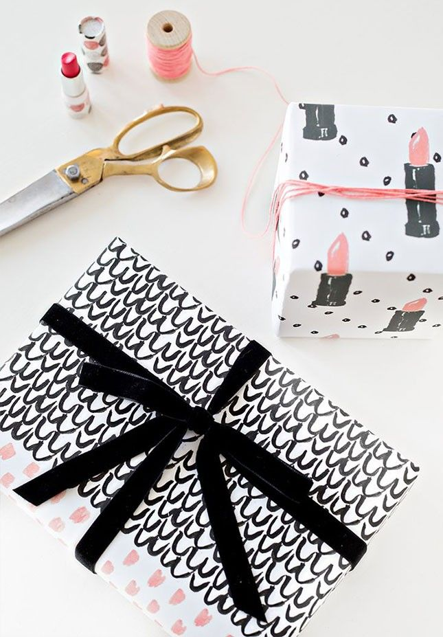 Wrap up gifts for your favorite girly girl in this printable patterned wrapping paper.