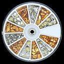 200PCS #Mix #Form #Golden #und #Splitter # 3D #Legation #Studs #Rviets #Rad #Nail #Art #D …   – Hochzeitsnägel