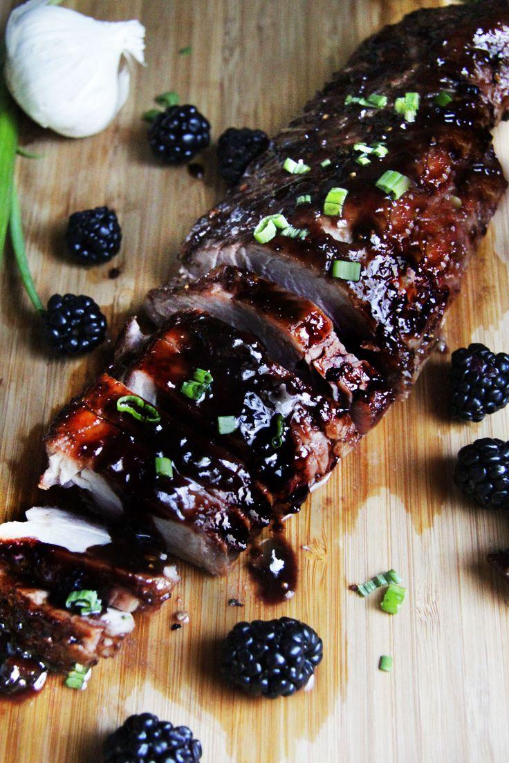 Blackberry Hoisin Ginger Pork Tenderloin | http://www.carlsbadcravings.com/blackberry-hoisin-ginger-pork-tenderloin/