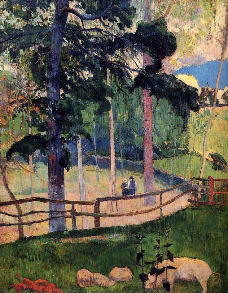 Nostalgic Promenade by Paul Gauguin