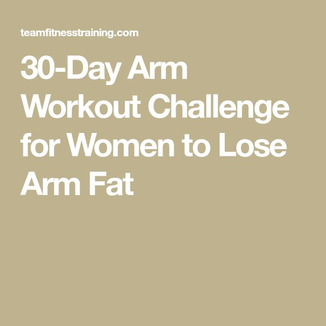 30-Day Arm Workout Challenge for Women to Lose Arm Fat