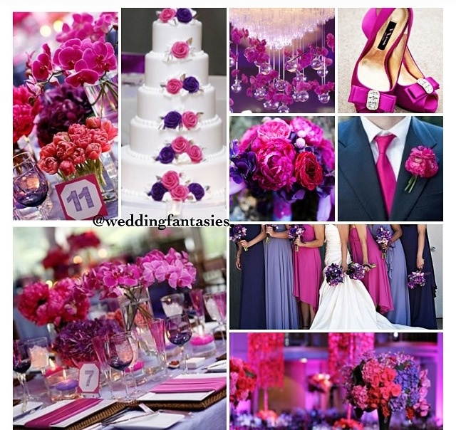 Pink And Blue Wedding