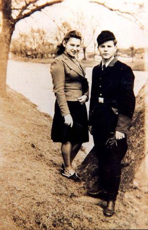 Slonim, Poland, Stanislaw Khrenowski in an SS volunteer uniform.