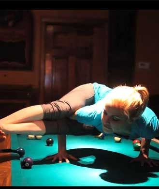 sex pose on the table
