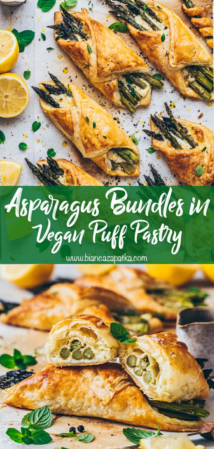 Asparagus Puff Pastry Bundles With Vegan Cheese Easy Bianca Zapatka Recipes Recipe In 2020 Easy Chicken Dinner Recipes Easy Dinner Recipes Crockpot Brunch Recipes