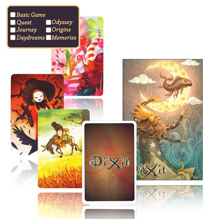 dixit English board game,basic/quest/odassey/origins/journey/daydreams/memories,with giftbox,playing card jogo dixit dixit juego
