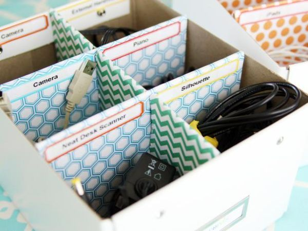 home-office-cord-organizer - Home Decorating Trends - Homedit