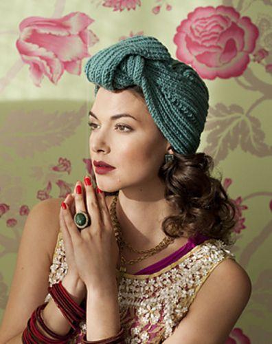 #31 Turban by Lola Ehrlich  hat knitting pattern from Vogue Knitting Winter 2011/2012