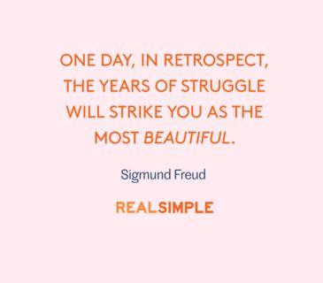 Inspiring words from Sigmund Freud.